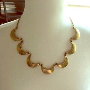 J Crew Factory Antique Gold Necklace